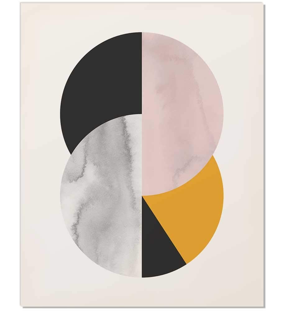 Abstract Circle Mid Century Art Print