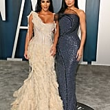 Kim Kardashian Kylie Jenner at Vanity Fair Oscars Party 2020