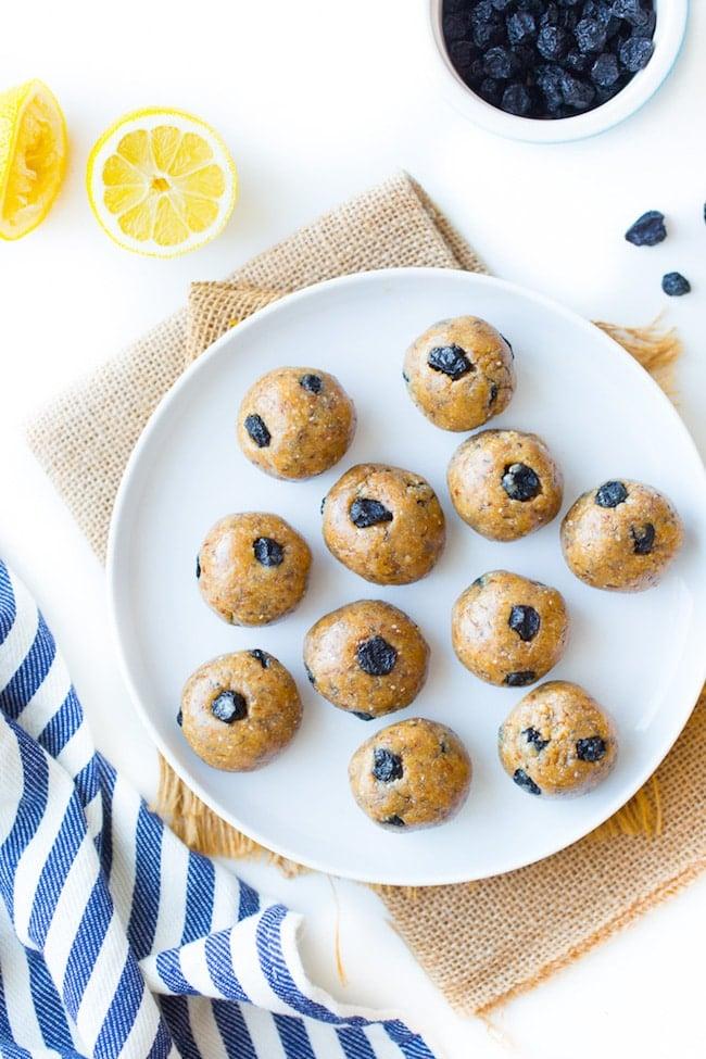 Blueberry Paleo Energy Balls