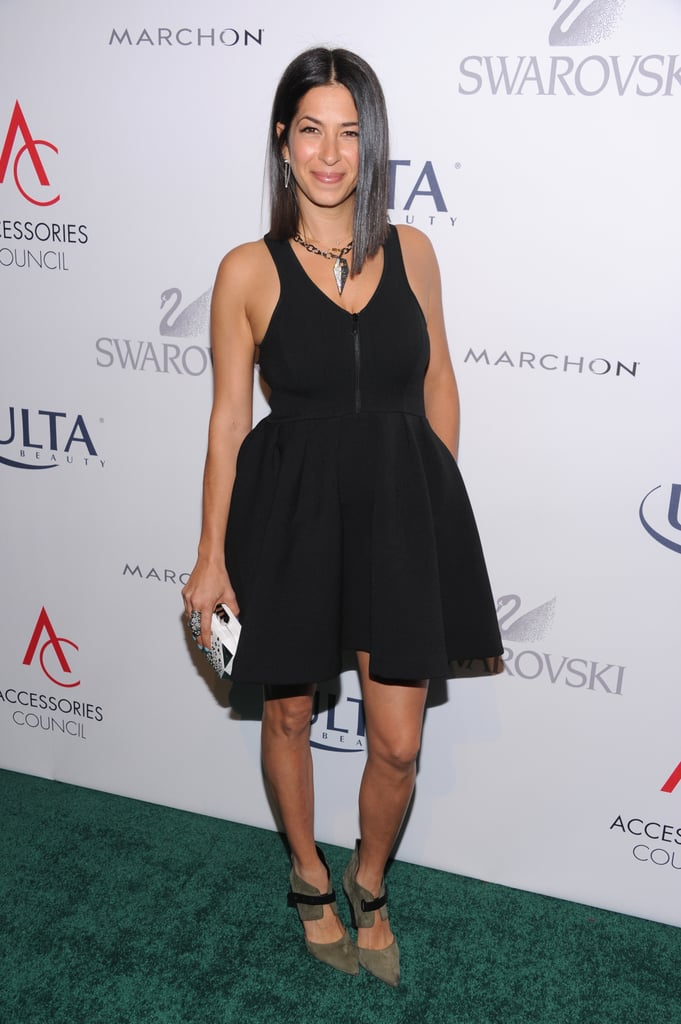 Rebecca Minkoff showed off her party style in the LBD she worked on the ACE Awards carpet.