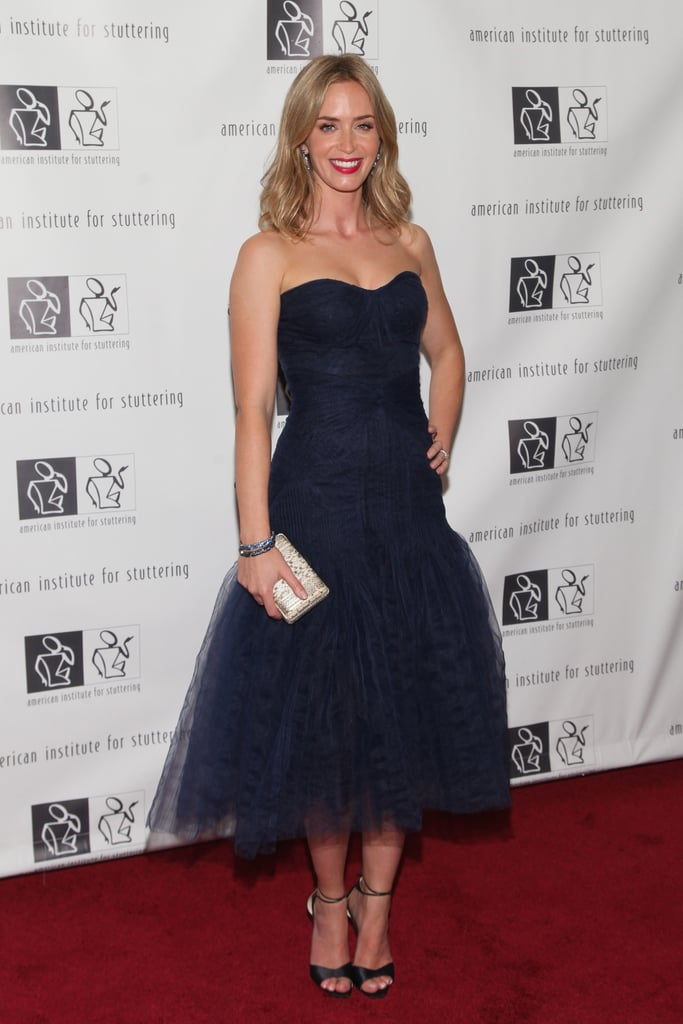 Emily Blunt was the picture of a modern-day princess in this tulle Zac Posen confection at the seventh annual Freeing Voices, Changing Lives benefit gala in NYC.