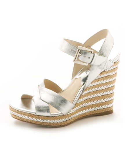 These espadrilles get a city-slick makeover with an attention-grabbing metallic that would work just as well on the beach as they would about town.  Michael Michael Kors Viola Espadrille Sandal ($125)