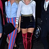 And Taylor Swift and Martha Hunt arrived in the collection to support their pal.