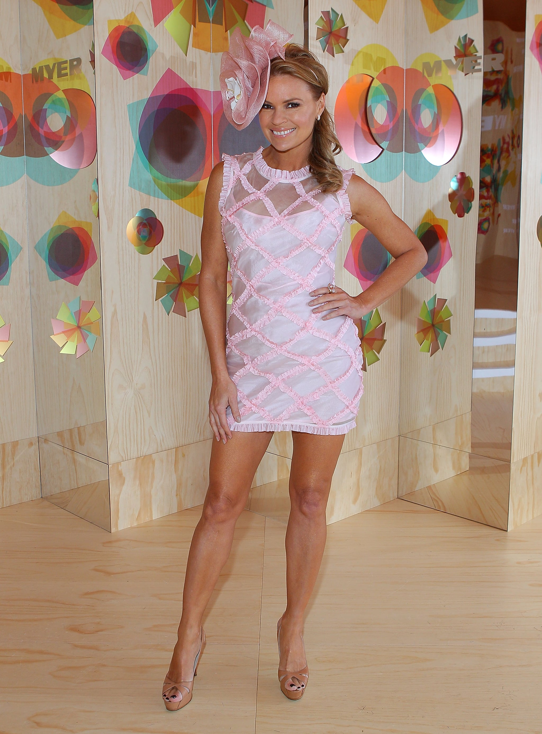 Sonia Kruger's tan heels make those pins go on forever.