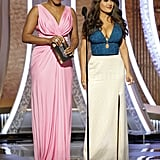 Tiffany Haddish and Salma Hayek at the 2020 Golden Globes
