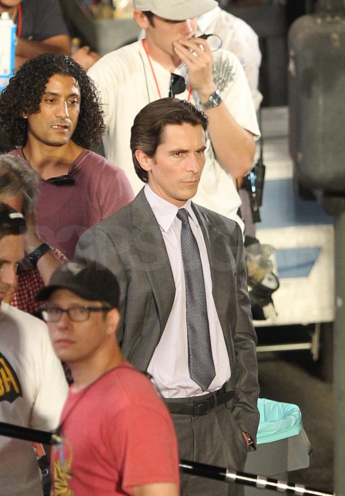 Christian Bale filming The Dark Knight Rises.