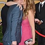Julia Roberts gave Jesse Tyler Ferguson a big hug.