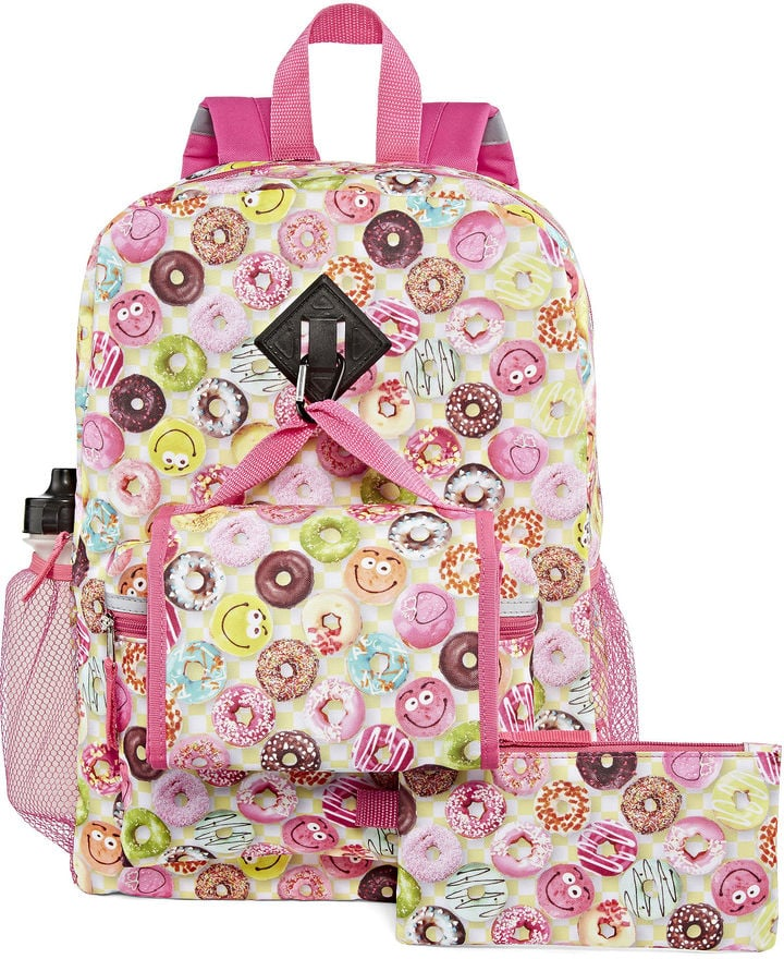 Confetti Smiley Donuts Backpack Set