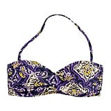 We love the feel of this slightly more tribal-infused take on paisley. J.Crew Marrakech Paisley Twist-Front Bandeau Top ($52)