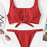 Shein Knot Front Bikini Set