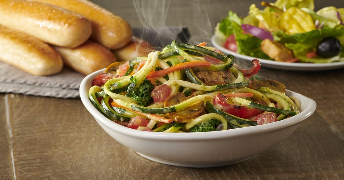 Olive garden 39 s new zoodles primavera popsugar fitness - Low calorie meals at olive garden ...