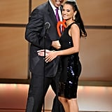Cory Booker and Withelma T Ortiz-Macey shared the stage at the 2011 Glamour Women of the Year Awards.