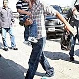 Cruz and Daddy Becks Cruise to LAX