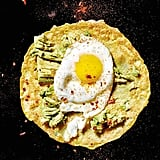 Chickpea Crepes With Fried Egg and Avocado