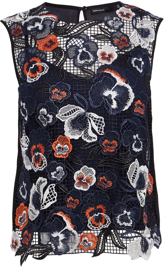 Karen Millen Embroidered Floral Top (£125)