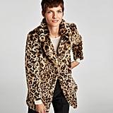 Zara Faux Fur Leopard Print Coat