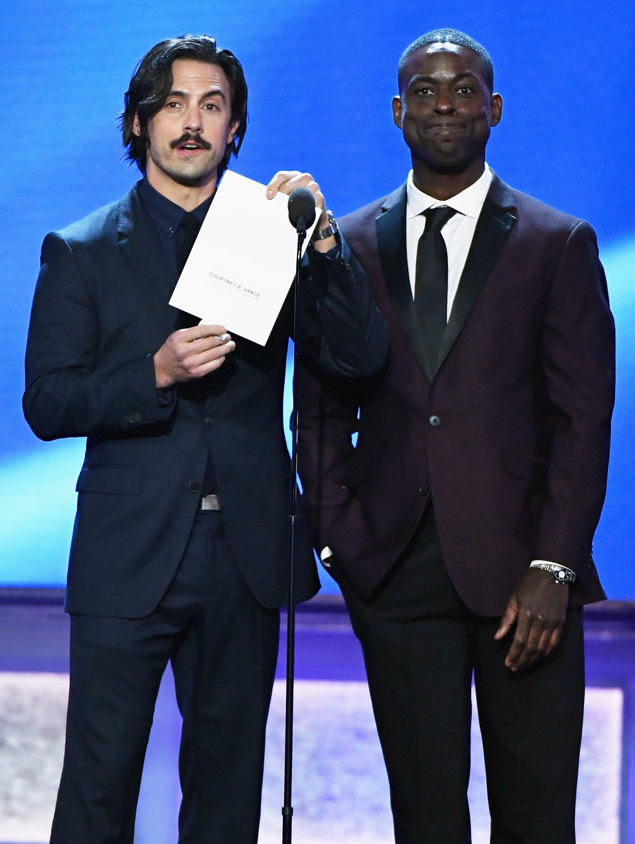 Milo Ventimiglia & Sterling Brown at Critics\' Choice Awards ...