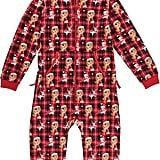 Mariah Carey Kids' Plaid Print Hooded Onesie