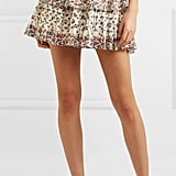 LoveShackFancy Tiered Floral-Print Mini Skirt