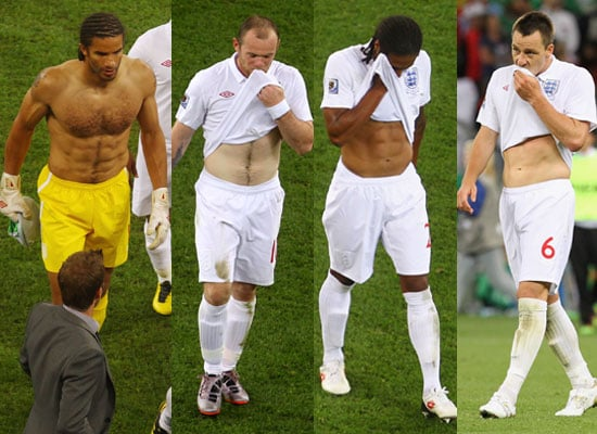 Pictures of Hot Shirtless England Football Players at World Cup Algeria Match Plus David Beckham, Prince Harry, Prince William