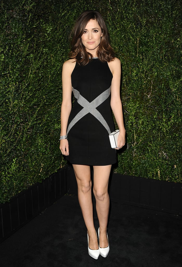 Rose Byrne wore a minidress.