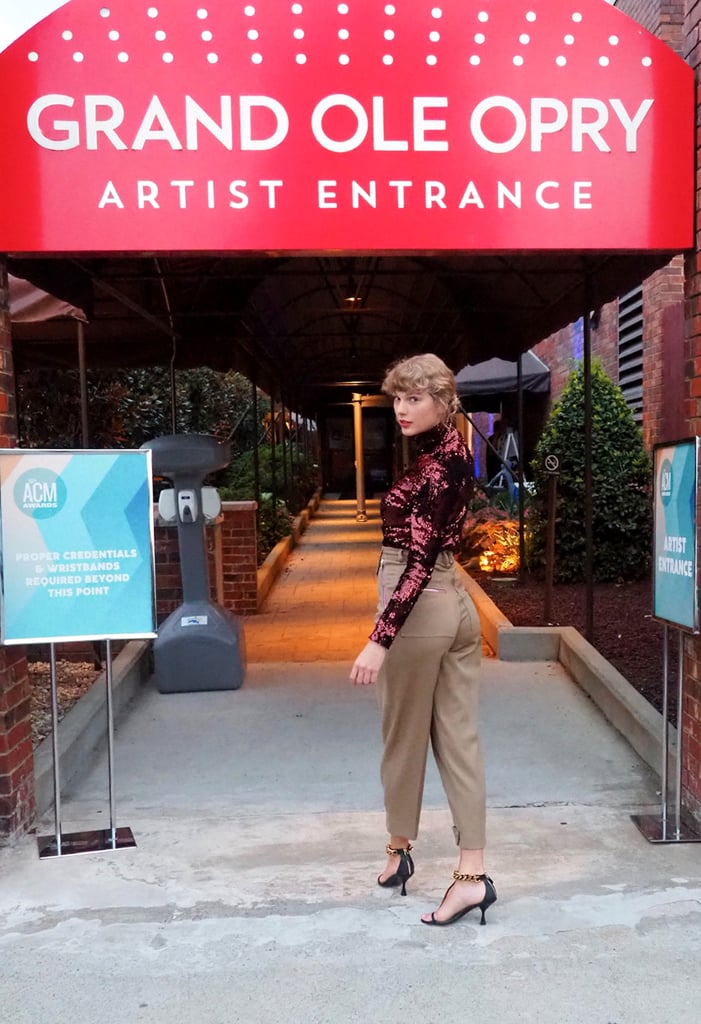 Taylor Swift Wore a Sequined Top and Trousers to ACM Awards