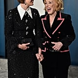 Sarah Paulson and Holland Taylor at the Vanity Fair Oscars Afterparty