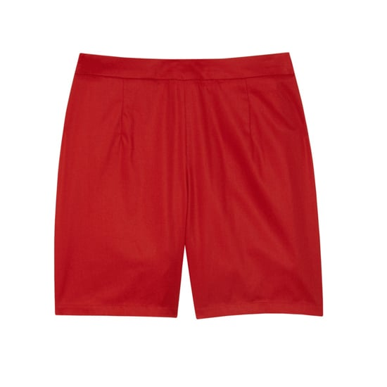 "A.P.C. Cotton Shorts, $180    Pair with:    <iframe src=""http://widget.shopstyle.com/widget?pid=uid5121-1693761-41&look=3445629&width=3&height=3&layouttype=0&border=0&footer=0"" frameborder=""0"" height=""244"" scrolling=""no"" width=""286""></iframe>"