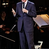 Bill Clinton said a few words at the Revlon Concert for the Rainforest Fund at Carnegie Hall in NYC.
