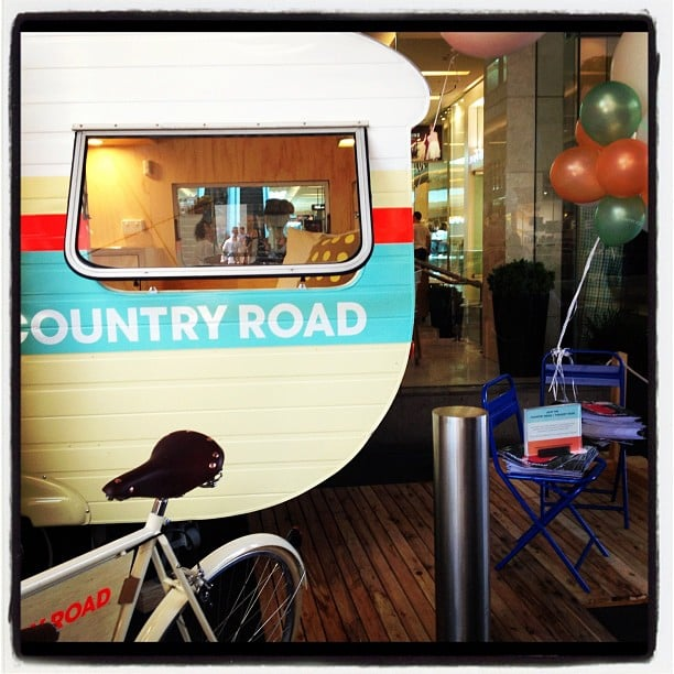 We hit the gorgeous Country Road caravan outside of the Bondi Junction store over the weekend. Where can we get one?!