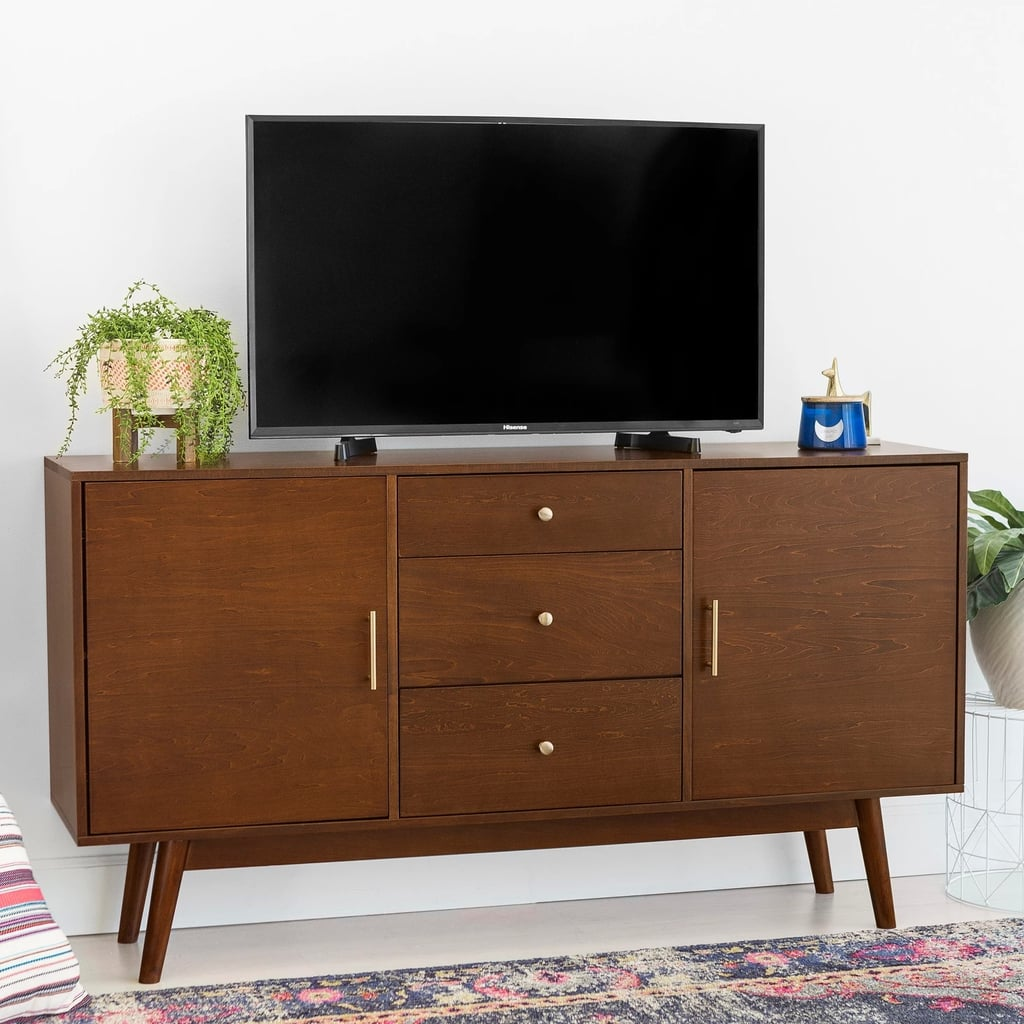 Midcentury Modern Wood TV Console