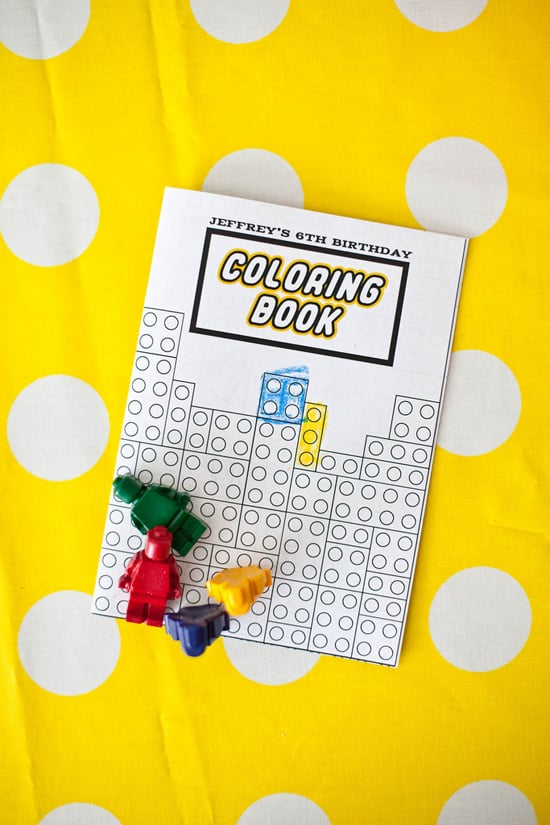 Lego Coloring Book and Crayons | LEGO Themed Party | POPSUGAR Moms ...