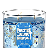 Frosted Coconut Snowball 3-Wick Candle