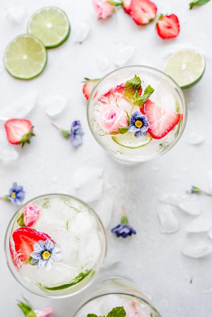 White Wine Sangria with Strawberries & Elderflower