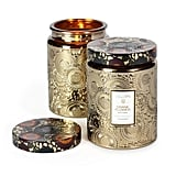 The hefty Voluspa Cut Glass Jar Candle in Crane Flower ($26) is a gilded container that's filled with an aromatic blend of bird of paradise nectar with geranium and lavender for a floral escape in the middle of the Winter.