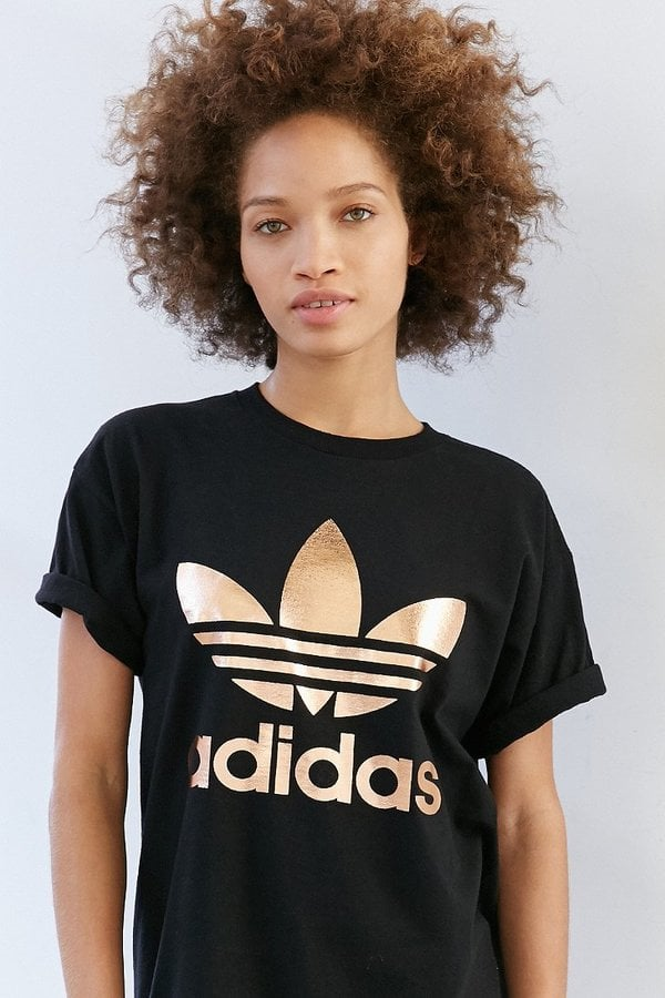 Adidas Rose Gold Double Logo Tee
