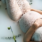 Milk Bath Maternity and Newborn Photos