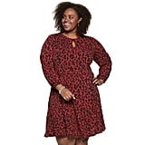 Suite 7 Plus Size Bishop Sleeve Fit & Flare Dress