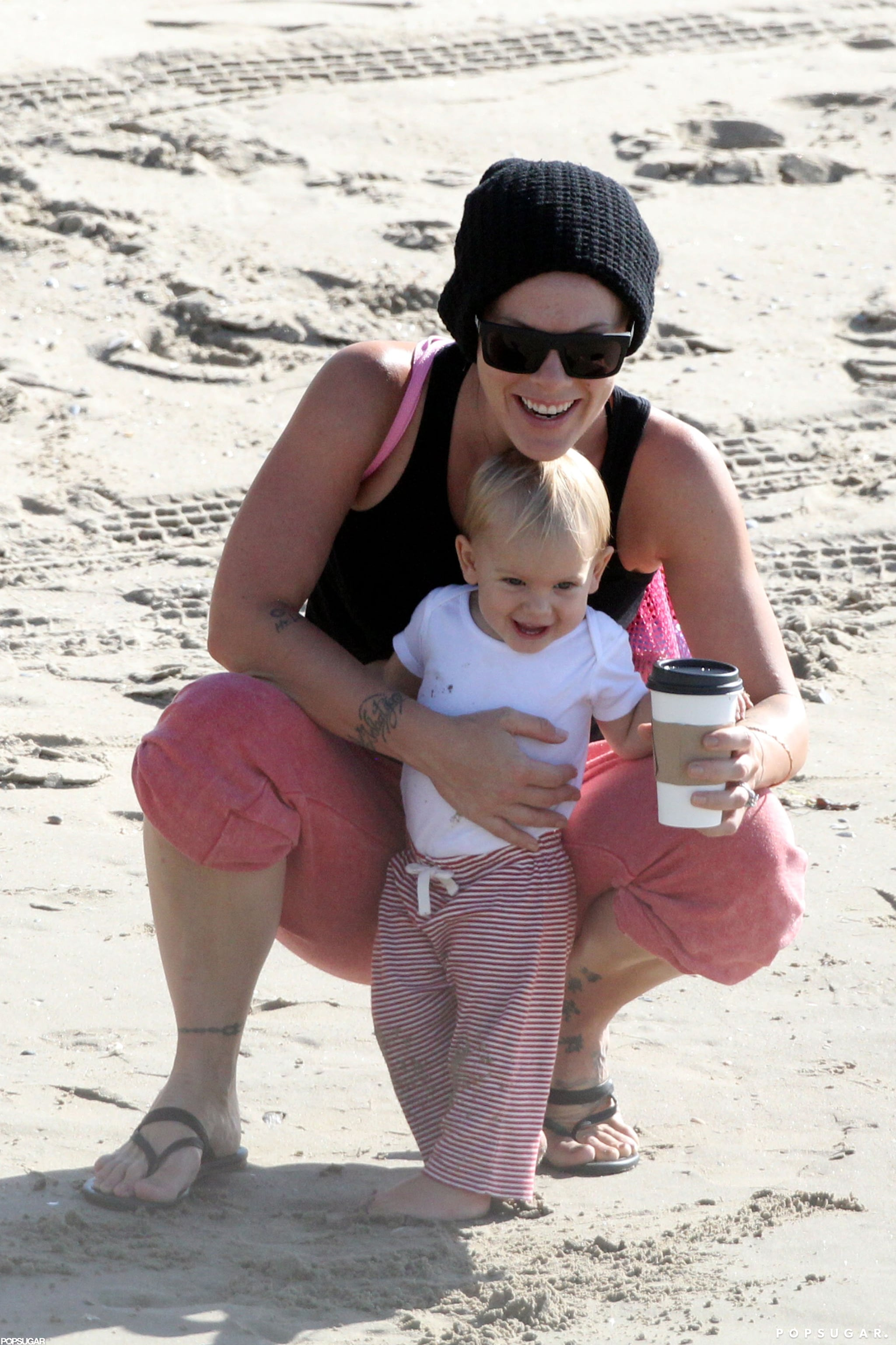 Pink Gets Sweet With Willow During a Sandy Beach Day