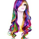 Long Rainbow Wavy Ombré Spring Bouquet Cosplay Wig