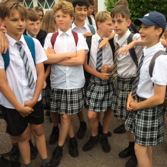 Boys Wearing Skirts to Protest School Uniforms