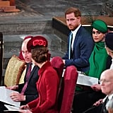 William, Kate, Harry, and Meghan at Commonwealth Day Service 2020
