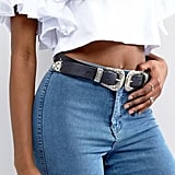 ASOS Leather Double Buckle Belt