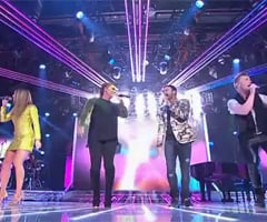 Video of The X Factor Judges Guy Sebastian, Natalie Bassingthwaighte, Ronan Keating, Mel B Performing Together