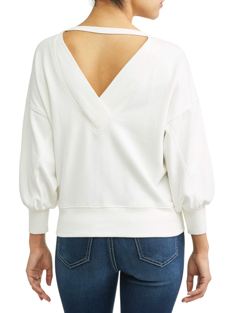 Open Back Sweatshirt