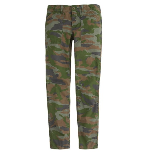Fall's new printed pant is the camo, and this skinny utility version ($98) couldn't be more perfect.