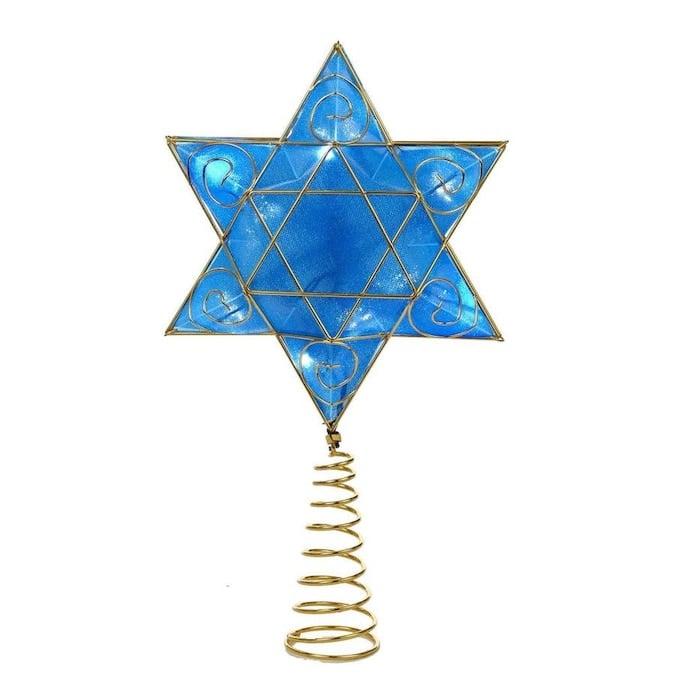 Kurt S. Adler Kurt Adler Battery-Operated Hanukkah Tree Topper with LED Lights