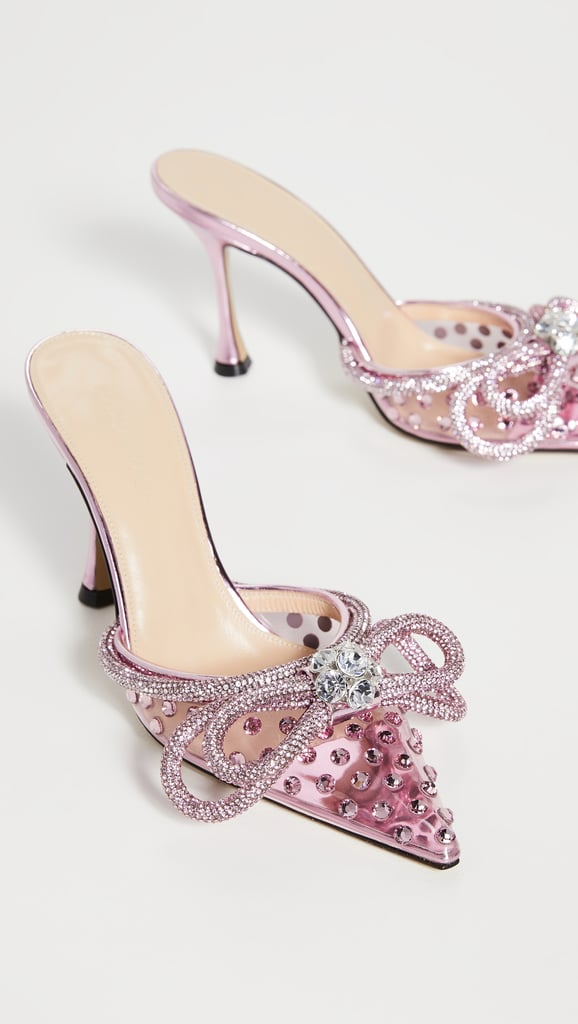 A Designer Pair: MACH & MACH Double Bow Crystallized Mules