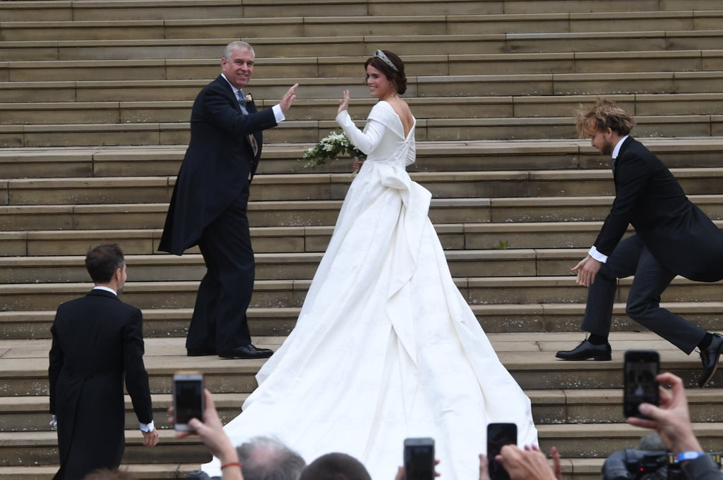 Princess Eugenie Wedding Pictures With Her Parents 2018