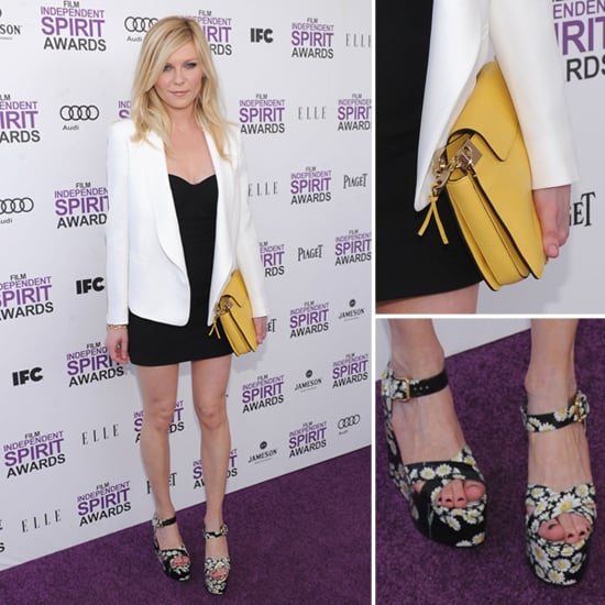 Kirsten Dunst Yellow Clutch